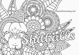 Swear Word Coloring Pages Printable Free Free Printable Swear Word
