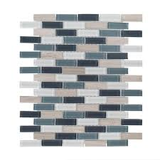 jeffrey court dolphin tail 9 75 in x 12 in x 6 mm glass mosaic