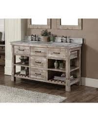 Amazing Deal on Infurniture Rustic Style 60 inch Double Sink