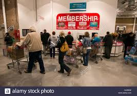 Customers At Newly Opened Costco Warehouse Retail Store In Cedar