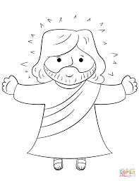Small Picture Cartoon Jesus coloring page Free Printable Coloring Pages