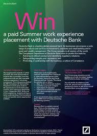 deutsche bank compliance essay competition employability and deutsche bank essay competition poster