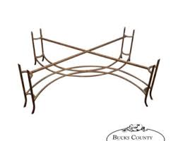 Perfect Hollywood Regency Gilt Metal Heavy Iron Coffee Table Base