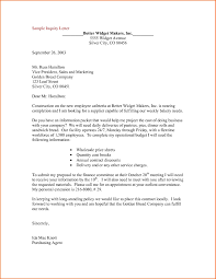 Format Of Letter Of Enquiry Inquiry Letters Samples Example Of Letter In Business New Enquiry 10