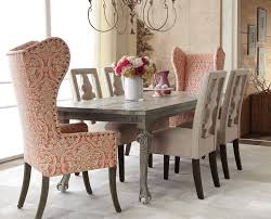 interesting wingback dining chair with delightful design wingback dining room chairs clever modern chair