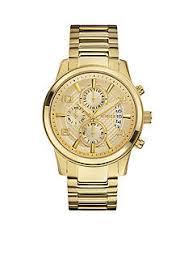 men guess® watches belk guess® men s gold tone dress chronograph watch