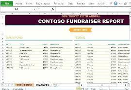 Fundraiser Checklist Template Fundraising Excel Templates Spreadsheet