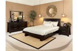 Ligna Zen 4 Piece Low Profile Bedroom Set in Ebony