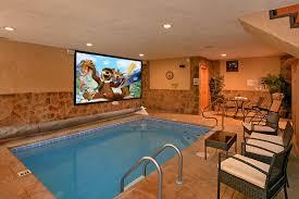 indoor pool house with slide. Gatlinburg Cabins With Indoor Pools For Rent Elk Springs Resort House Pool Slide
