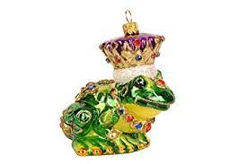 Premium Christbaumkugeln Figure Froschkönig Frosch 10cm