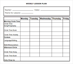 Weekly Lesson Plan Templates Free Lesson Plan Templates Excel Pdf Formats Plan Bee