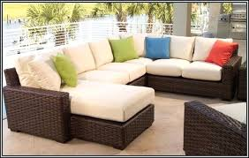 patio furniture cushion covers. Patio Sofa Covers Big Lots Furniture Wicker Brown Woven Armrest Square Pillows White Cushion O