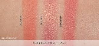 sleek blush by 3 in lace swatches 1 crochet matte peach orange 2