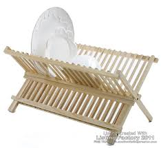 new quality wooden foldable sink dish drainer plate