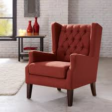 brick red accent chairs for living room