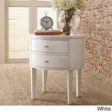Aldine-2-drawer-Oval-Wood-Accent-Table-by-