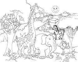 Safari Animals Template Drawing Safari Animals Edenolur Co