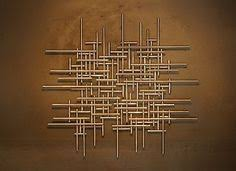 large abstract metal sculpture wall art modern silver tubing jere styl ebay on large metal sculpture wall art with metal wall art art decor abstract contemporary modern
