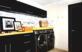 Urban Modern. Urban black laundry room