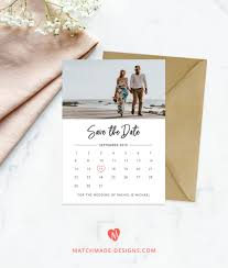 Photo Save The Date Template Calendar Save Our Date