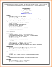 High School Resume For College Application Sample Luxury 6 College