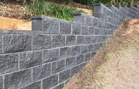 split face cinder block retaining wall