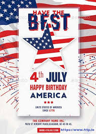60 Best 4th Of July U S Independence Day Flyers Print