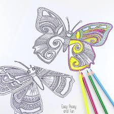 Small Picture Butterfly Coloring Pages for Adults Easy Peasy and Fun