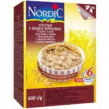 """<b>Хлопья Nordic</b> """"<b>5</b> видов зерновых"""", 600 гр купить по низким ценам ..."""