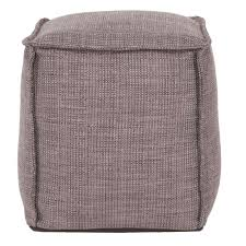 square pouf coco slate howard elliott