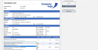 Export Invoice And Packing List Format Inel Under Gst In Excel Free