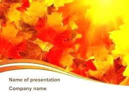 Free Fall Powerpoint Fall Oak Leaves Nature Templates And Backgrounds Presentation Themes