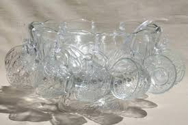 glass punch bowl set 2 color options fortune and glory made in vintage indiana carnival 3