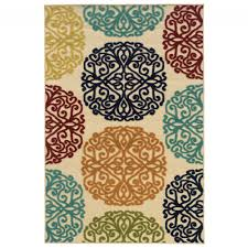 lagos natural medallion outdoor rug 2 5x4 5