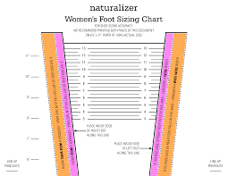 Printable Women Shoe Size Chart Templates At