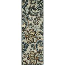 better homes and gardens brown paisley berber printed area rugs or runner com