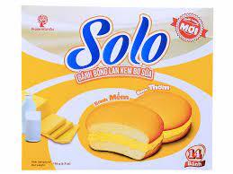 Bánh bông lan kem bơ sữa Phạm Nguyên Solo hộp 196g (14 cái)