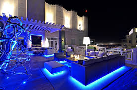 patio lighting idea with led rope lights under outdoor furniture full size