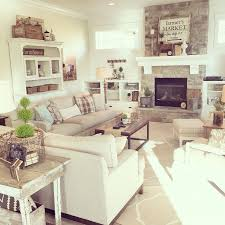 home living fireplaces. like the white furniture piece next to fireplace. a neutral palette, lots of texture, modern farmhouse aesthetic with touch industrial, home living fireplaces