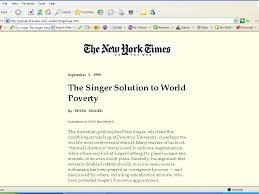 Peter Singer Poverty Essay Popular Topics