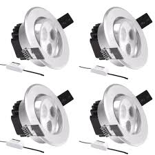3 inch led recessed lights with 4 pcs lot le 3w led ceiling light and 10 matte silver frame daylight white on 1000x1000 1000x1000px