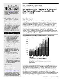 Navy Enlistment Bonus Chart Gao 03 149 Military Personnel Management And Oversight Of