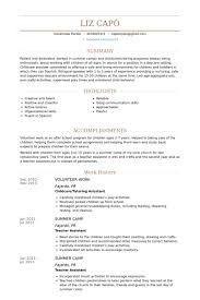 Volunteer Work Resume Samples VisualCV Resume Samples Database