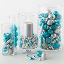 Fancy Ideas Blue And Silver Christmas Decorations Decorating Table