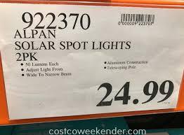 Alpan Solar Spot Lights Alpan Smartyard Smart Focus Led Solar Spotlight 2 Pack
