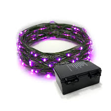 20 Led Lights Battery Operated Rtgs 60 Pink Color Led String Lights Batteries Operated On 20 Feet Long Green Color Wire With Black Waterproof Batteries Box Automatic Timer And 8