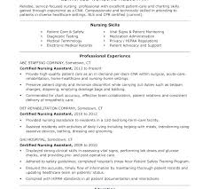 Nurse Assistant Resume Resume Examples No Experience Related To ...