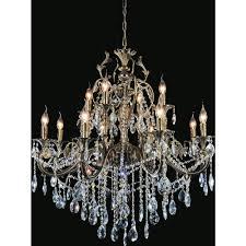 cwi lighting brass 12 light antique brass chandelier
