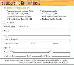 Sponsorship Template Form Nerdcredco 214132736056 Generic