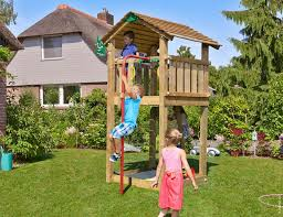 climbing frames small gardens jungle cote firemans pole